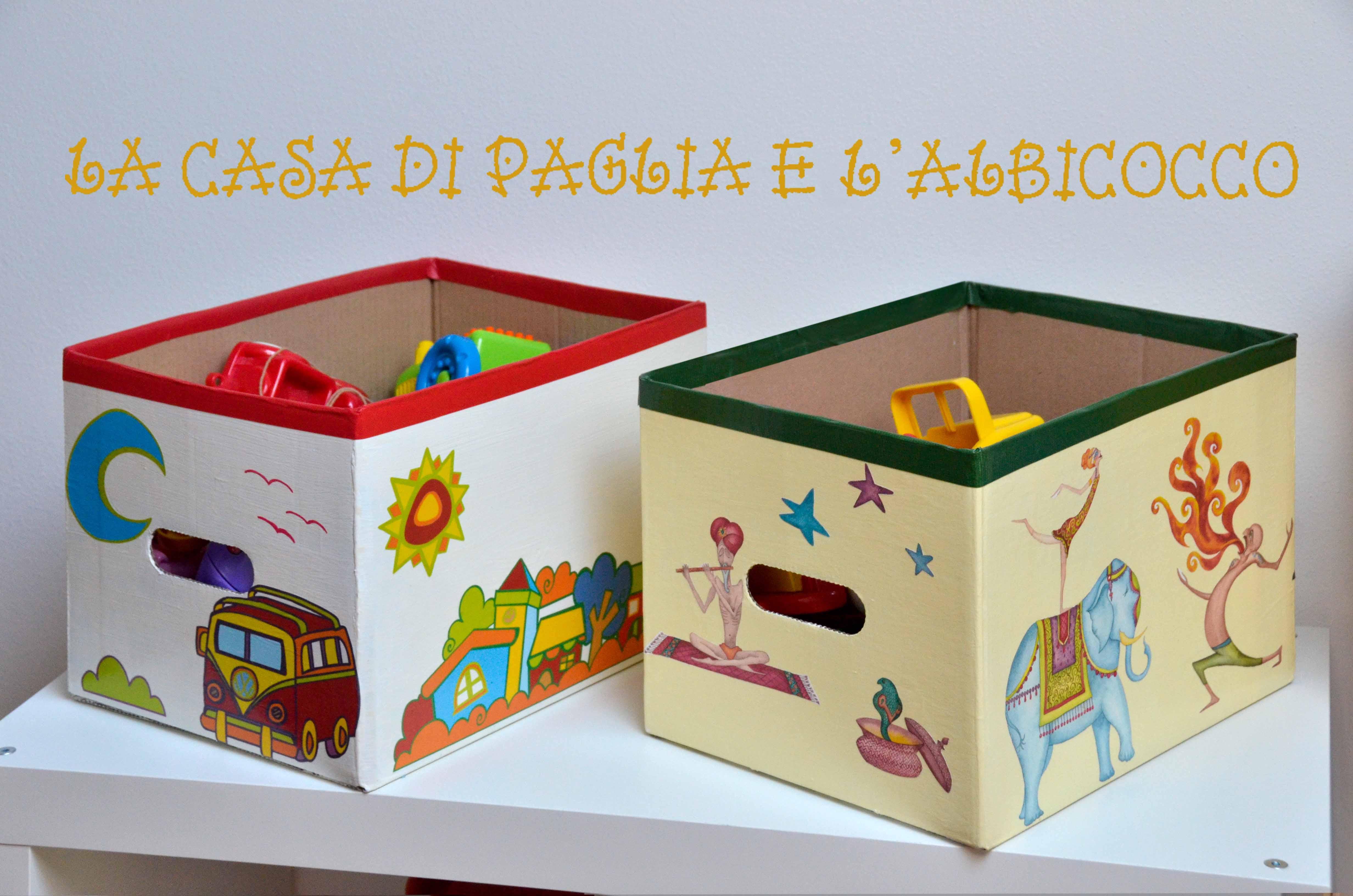 Contenitori per giocattoli la casa di paglia e l 39 albicocco for Contenitori per giocattoli ikea