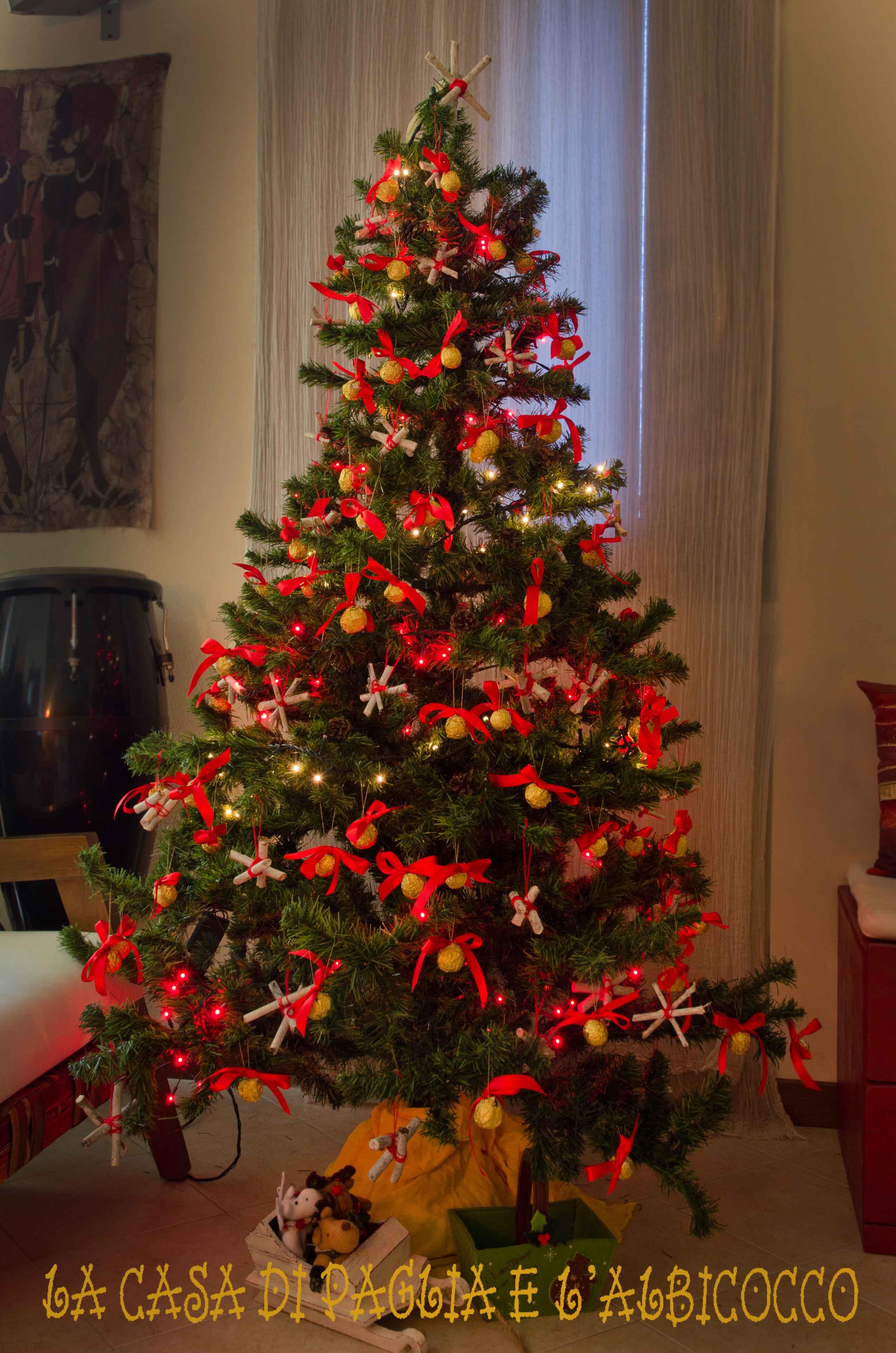 Ancora addobbi per l albero di natale la casa di paglia for Addobbi albero